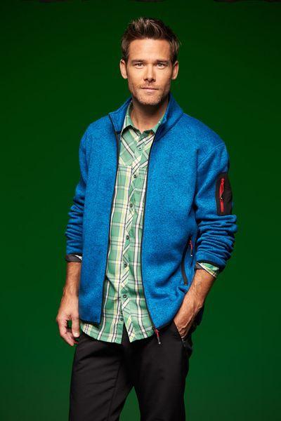 Pánská fleecová bunda pastelových barev James&Nicholson