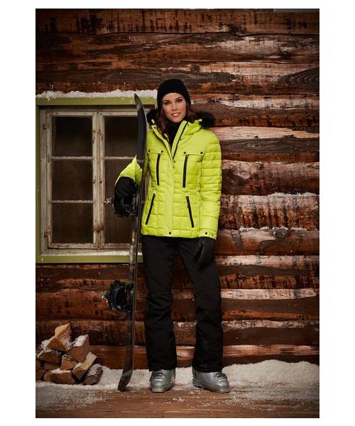 Zimní bunda s kožešinou na kapuci, která se dá odepnout