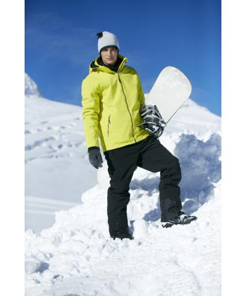 Pánská zimní softshellová bunda James & Nicholson, elastická, polstrovaná.